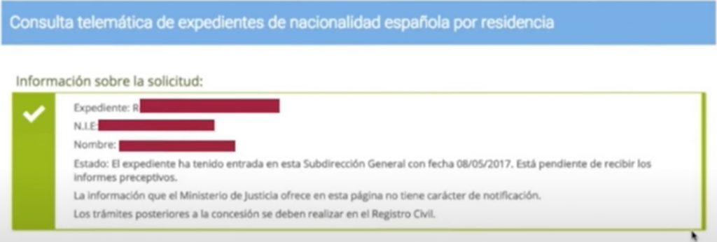 Solicitud consulta nacionalidad española